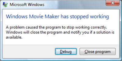 windows movie maker stop working
