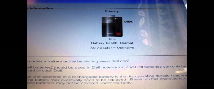 Dell Laptop Battery Not Charging
