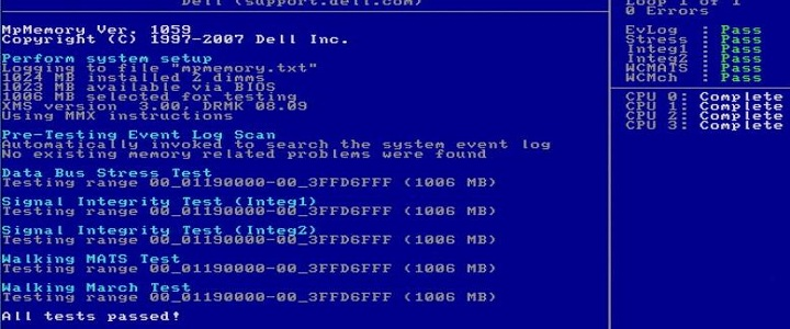 Dell Memory Test
