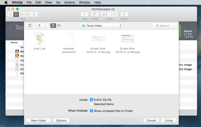 Unzip Files on Mac