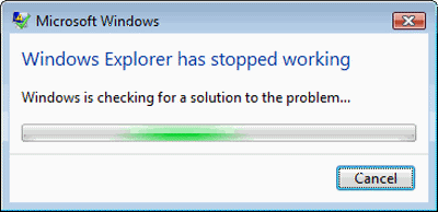 Windows 10 explorer crash