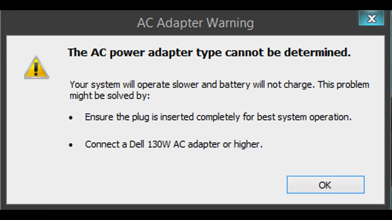 dell adapter problem