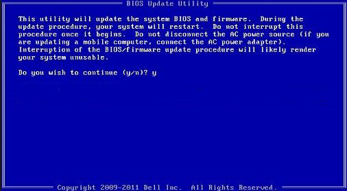 dell bios update