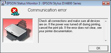 epson communication error