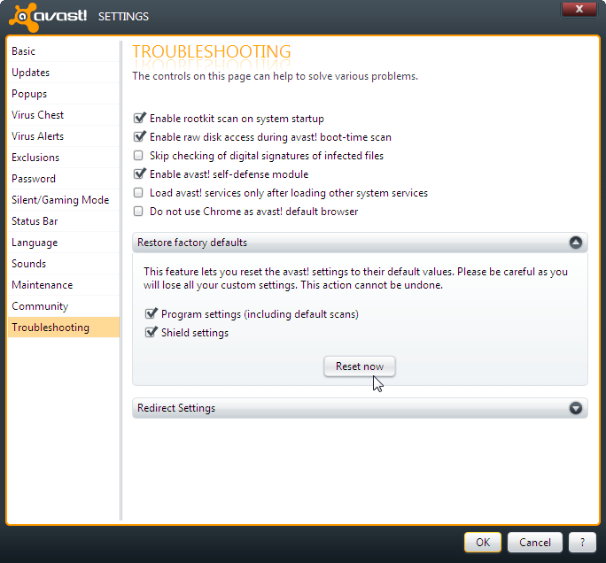 Avast unable to start firewall
