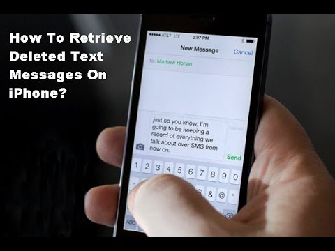 retreive deleted message on iphone