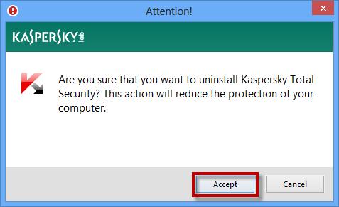 uninstall Kaspersky Windows 10