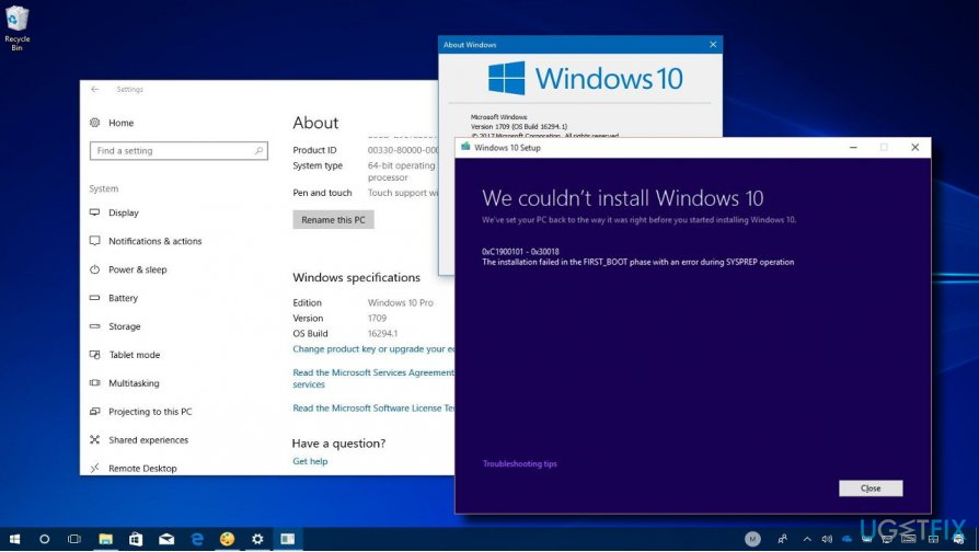 Windows 10 updates failed to install