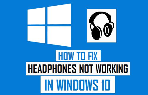 audio jack not working Windows 10