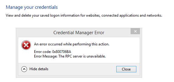 Avast RPC Error