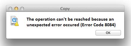mac error code 8084