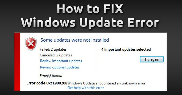 Windows Update Error Code 0xc1900208 - Easy Fix With Baba Support
