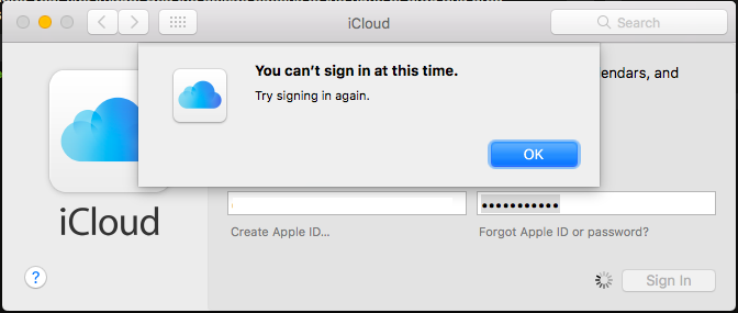 Can't Sign Into iCloud On Mac